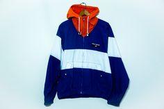 Vintage Polo Sport Striped Windbreaker Jacket