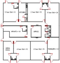 Daycare facility floorplan day care floor plans daycare ideas day care building plans daycare business plan template we help wajeb Images
