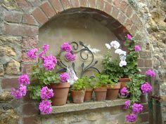 vintage garden pots