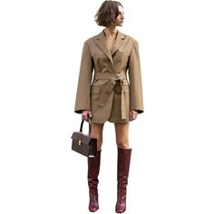 Ael Fabric Spring Autumn Women Blazers Suits Khaki Loose Designs Business Ladies Casual Suits Daily Clothing Size S Color Khaki Blazers For Women, Coats For Women, Clothes For Women, Women Blazer, Casual Suit, Casual Blazer, Blazer Jacket, Blazer Suit, Tela