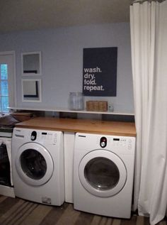 Laundry Art -- This is one of my favorite rooms in a house. I love doing laundry!