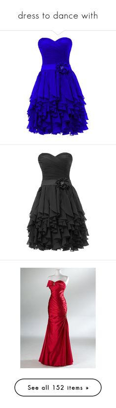 """""""dress to dance with"""" by lily-joy-943 ❤ liked on Polyvore featuring dresses, robe, vestidos, short dresses, homecoming dresses, short blue dress, short chiffon dress, short party dresses, cocktail party dress and black"""