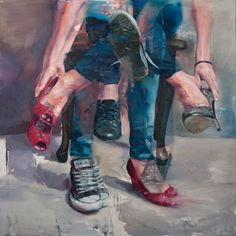 """Adam Lupton is an artist currently based out of Vancouver, Canada whose work explores psychological and sociological struggles in modern society. Lupton creates oil paintings that blur the lines between realism and expressionism which seems to compliment the """"the internal and external dialogue faced in his multi-directional narratives""""."""