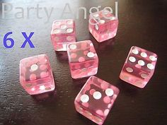 6 pcs 14mm transparent Dice acrylic craps casino bar toy Game Party gift P016