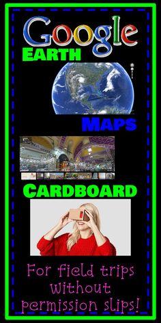 Google Earth, Middle School Social Studies, Google Cardboard, Google Maps, Field Trips