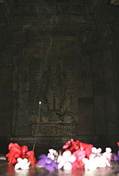 Petali, bastoncino d'incenso all'interno di un tempio a Khajuraho. Foto di Samuele Fracasso
