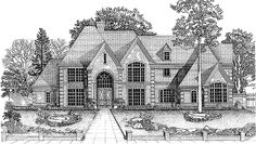 Eplans Chateau House Plan - Five Bedroom Chateauesque - 4799 Square Feet and 5 Bedrooms(s) from Eplans - House Plan Code HWEPL73432
