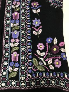 Black vest embroidered vest waistcoats for women handmade image 9