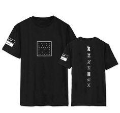 Kpop monsta x concierto mismo de impresión o cuello corto manga t camisa para las fans de apoyo verano camiseta más el tamaño del cuello de o t shirt en   de   en AliExpress.com | Alibaba Group