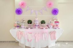Pink Lilac Purple Butterfly Flowers Girl Baby Shower Planning Ideas - but maybe with purple and gray onesies and not pink?