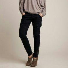 Romeo and Juliet Couture Dark Denim Cargo Pants Brand new without tags! Romeo and Juliet Couture Pants