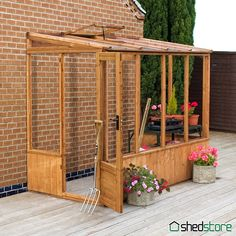 8'2 x 4'4 Windsor 84 Wooden Lean-To Greenhouse | Shedstore