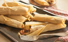Gently sweet and filling, these spiced sweet potato tamales can serve as either a vegetarian main course or a dessert. Corn husks vary in size and thickness, so a 6-ounce package (roughly 40) will give you enough to pick and choose from.