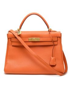Vintage grained leather 'Kelly' handbag by VINTAGE HERMES at Browns Fashion