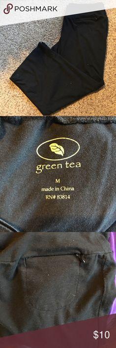 Green Tea Athletic Cropped Pants Soft and comfortable.  Zippered key pocket. Green Tea Pants