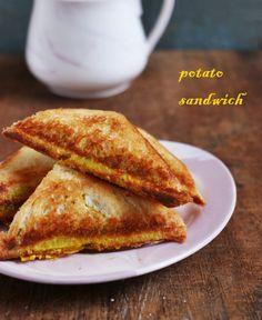Potato sandwich recipe, very easy to make filling and tasty potato sandwich, no onion garlic vegan recipe!
