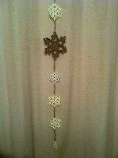 Crochet snowflake I have made for Christmas !!