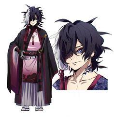 Oc Manga, Anime Oc, Anime Couples Manga, Anime Guys, Cute Anime Character, Character Art, Anime Demon Boy, Exorcist Anime, Samurai