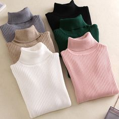 Sweaters for ladies On sale 2019 autumn winter Women Knitted Turtleneck Sweater VEST Soft polo-neck Jumper Fashion Slim Femme Elasticity Pullovers Women Sweaters - - Ribbed Sweater, Pullover Sweaters, Women's Sweaters, Casual Sweaters, Cashmere Sweaters, Sweater Cardigan, Winter Sweaters, Sweaters For Women, Jersey Casual
