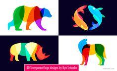 40 Transparent and Blend mode Logo designs by Ilya Schapko http://webneel.com/logo-design-transparent-blend   Design Inspiration http://webneel.com   Follow us www.pinterest.com/webneel