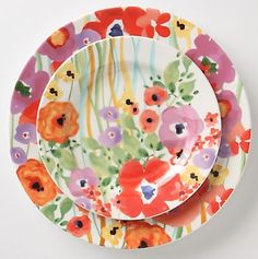 hand painted plates - ok these are too presh!