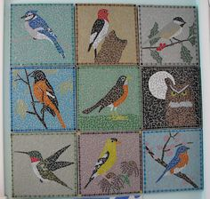 mosaic birds mosaic birds Flickr by AmyWoodward Pinned from flickr.com