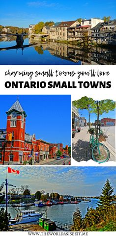 Discover the top Ontario small towns you'll fall in love with. Ontario City, Ontario Travel, Cool Places To Visit, Places To Travel, Travel Destinations, Canadian Travel, Canadian Rockies, Visit Canada, Mexico Travel