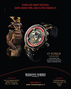 The O-YOROI Watch, presented for the first time at BASELWORLD 2015 by Time Changers ( www.timechangers.it )