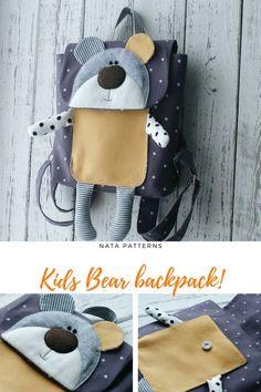 Backpack for girls Backpack Childerns Aminal Backpack Kids Backpack Toddler Bag Bear backpack Bags for kids Small Backpack purse Kids gift / детский рюкзак, рюкзак для детей, рюкзак Мишка