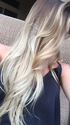 #icy #blonde #balayage #long