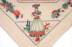 Vintage Tablecloth 50's Mexican by KitchenStuffandSuch on Etsy