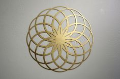 Flower of Life Gold Sacred Geometry Mandala - Dreamweaver. Idea for woodcarving Tantra, Sacred Geometry Art, Life Form, Flower Of Life, Geometric Shapes, Feng Shui, Metal Art, Zentangles, Graphic Design