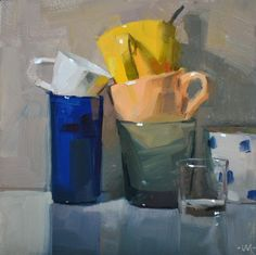 Click Here to Bid (6x6in.) Do you see that little moment where all three of the coffee cups touch? Well, that wasn't so easy to accomp...