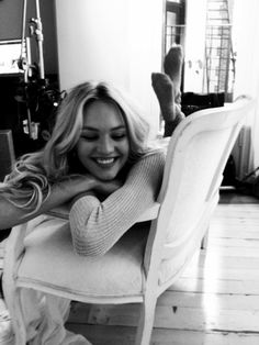 Candice is all giggles behind the scenes.