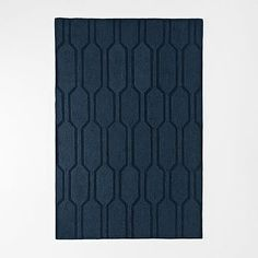 Honeycomb Textured Wool Rug - Regal Blue #westelm