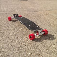 Trampa Street Carver ready to roll. This option has titanium trucks, a 15ply Holypro carve deck and 81a red wheels with Trampa ABEC7 bearings.  #mountainboard #mountainboarding #boarderx #race #4x #atbauk #2016 #snowboard #summer #kiteboarding #landboarding #dirtscooter #2wheel #dirtscooter #electricboard #8inchwheel #trampaboards #surf #dirt #skate # skateboard #longboard #offroad #options #summer #grip #YES #nosnow #actionsports #style #park @thrillmagazine