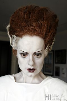 Mike Hill's life size Bride of Frankenstein sculpture,