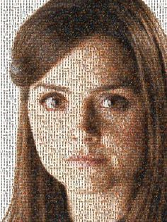 A picture of Clara Oswald made up of 100's of pictures of Clara Oswald