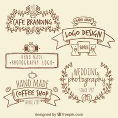 Handgefertigten Retro-Logos