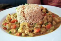 Le Potager du Marais (Paris, France): Vegetable curry with brown rice