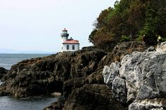 San Juan Islands. I took a picture of this same Lighthouse from almost the exact same spot!