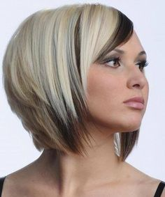 Super hot blonde hairstyles for short hair with bangs,love her color