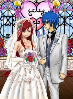 Erza Scarlet and Jellal Fernandes (Jerza) from Fairy Tail