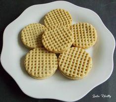Biscuits façon gaufrettes au caramel .   { Sans sucre - Faible en MG }