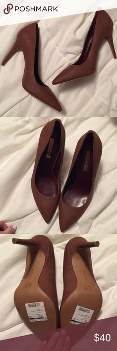 NWT bcbg brown pointed toe pumps Brand new. Have never been worn. Sample shoe and cannot be sold in a retail store. BCBGeneration Shoes Heels