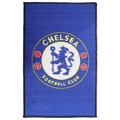 b52b9a8d9 Chelsea FC Official Printed Soccer Crest Rug (One Size) (Blue)