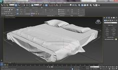 3ds Max Tutorial|Realistic Interiors with Marvelous Designer|Bedsheet,Pi...