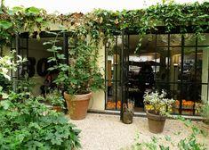 Garden of La Cantine du Potager in Merci Paris
