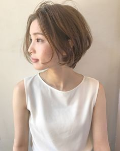 New Hair Styles Short Curly Hair Round Faces Ideas Japanese Short Hair, Asian Short Hair, Asian Hair, Girl Short Hair, Short Curly Hair, Short Hair Cuts, Curly Hair Styles, Hairstyles For Round Faces, Pretty Hairstyles