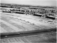 Bassingbourn airfield as seen from a B-17